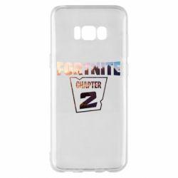 Чехол для Samsung S8+ Fortnite text chapter 2