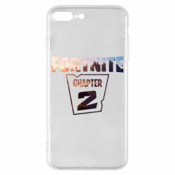 Чехол для iPhone 8 Plus Fortnite text chapter 2