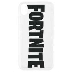 Чохол для iPhone XR Fortnite text