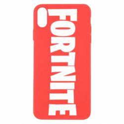 Чохол для iPhone X/Xs Fortnite text