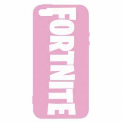 Чохол для iphone 5/5S/SE Fortnite text