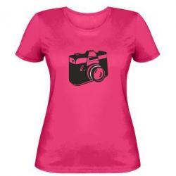 Женская футболка Фотоаппарат - FatLine