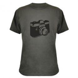 Камуфляжная футболка Фотоаппарат - FatLine