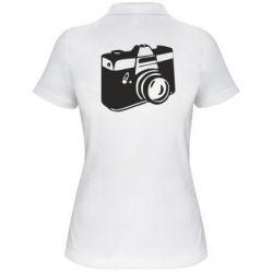Женская футболка поло Фотоаппарат - FatLine