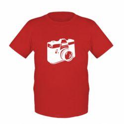 Детская футболка Фотоаппарат - FatLine