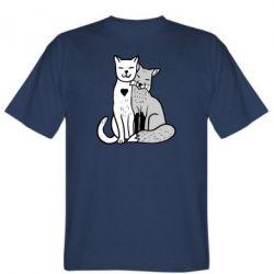 Чоловіча футболка Fox and cat heart