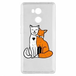 Чехол для Xiaomi Redmi 4 Pro/Prime Fox and cat heart