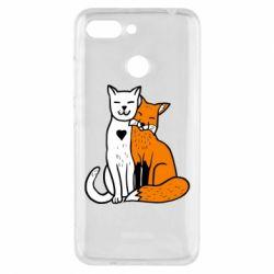 Чохол для Xiaomi Redmi 6 Fox and cat heart - FatLine