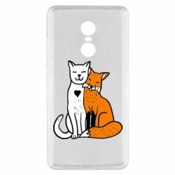 Чохол для Xiaomi Redmi Note 4x Fox and cat heart