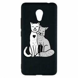 Чохол для Meizu M5c Fox and cat heart - FatLine