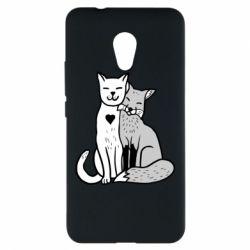 Чохол для Meizu M5s Fox and cat heart - FatLine