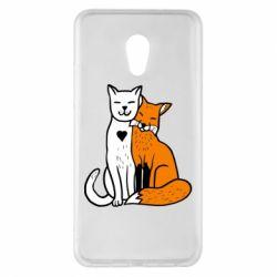 Чохол для Meizu Pro 6 Plus Fox and cat heart - FatLine