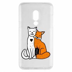 Чохол для Meizu 15 Fox and cat heart - FatLine