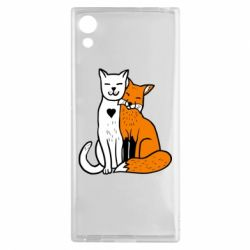 Чохол для Sony Xperia XA1 Fox and cat heart - FatLine
