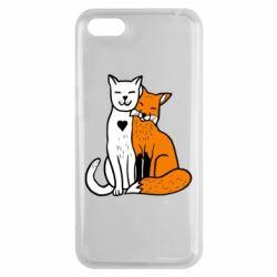 Чохол для Huawei Y5 2018 Fox and cat heart - FatLine
