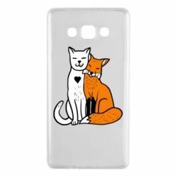 Чохол для Samsung A7 2015 Fox and cat heart