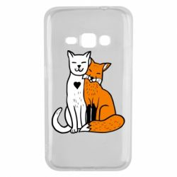 Чохол для Samsung J1 2016 Fox and cat heart