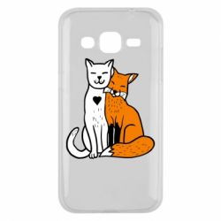 Чохол для Samsung J2 2015 Fox and cat heart