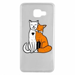 Чохол для Samsung A7 2016 Fox and cat heart