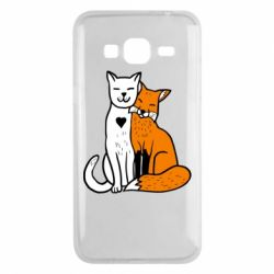 Чохол для Samsung J3 2016 Fox and cat heart