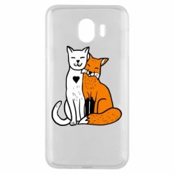 Чохол для Samsung J4 Fox and cat heart