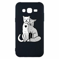 Чохол для Samsung J5 2015 Fox and cat heart