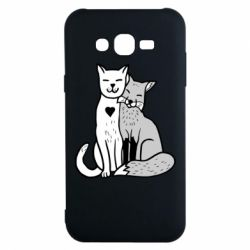 Чохол для Samsung J7 2015 Fox and cat heart
