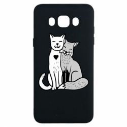 Чохол для Samsung J7 2016 Fox and cat heart