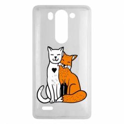Чохол для LG G3 Mini/G3s Fox and cat heart - FatLine