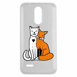 Чохол для LG K7 2017 Fox and cat heart - FatLine