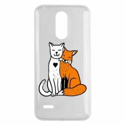 Чохол для LG K8 2017 Fox and cat heart - FatLine