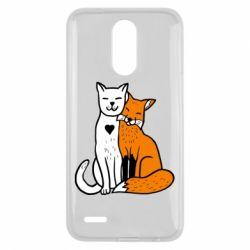 Чохол для LG K10 2017 Fox and cat heart - FatLine