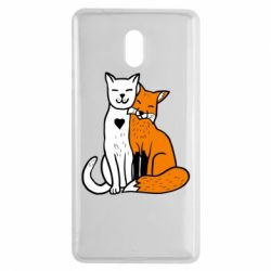 Чохол для Nokia 3 Fox and cat heart - FatLine