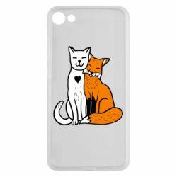 Чохол для Meizu U10 Fox and cat heart - FatLine