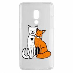 Чохол для Meizu 15 Plus Fox and cat heart - FatLine