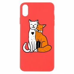 Чохол для iPhone Xs Max Fox and cat heart