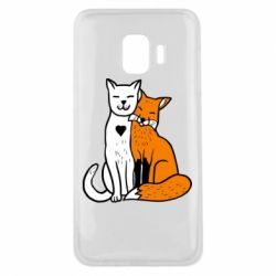 Чохол для Samsung J2 Core Fox and cat heart