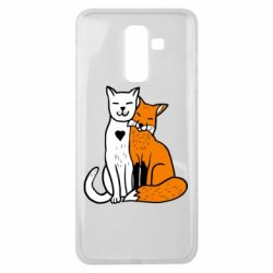 Чохол для Samsung J8 2018 Fox and cat heart