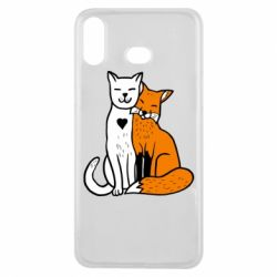 Чохол для Samsung A6s Fox and cat heart