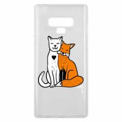 Чохол для Samsung Note 9 Fox and cat heart