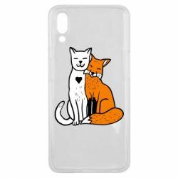 Чохол для Meizu E3 Fox and cat heart - FatLine