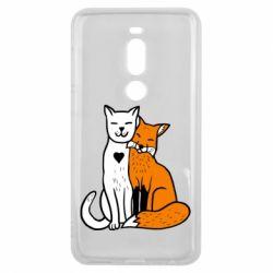 Чохол для Meizu V8 Pro Fox and cat heart - FatLine