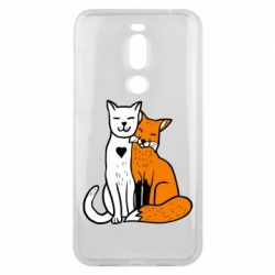 Чохол для Meizu X8 Fox and cat heart - FatLine