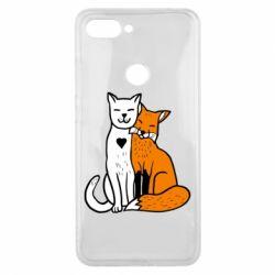 Чохол для Xiaomi Mi8 Lite Fox and cat heart