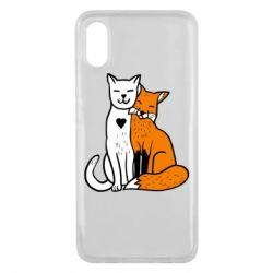 Чехол для Xiaomi Mi8 Pro Fox and cat heart