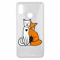 Чехол для Xiaomi Mi Max 3 Fox and cat heart