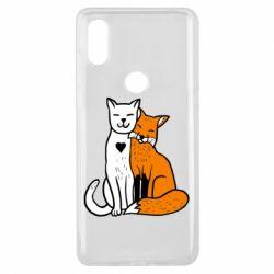 Чехол для Xiaomi Mi Mix 3 Fox and cat heart