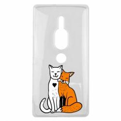 Чохол для Sony Xperia XZ2 Premium Fox and cat heart - FatLine