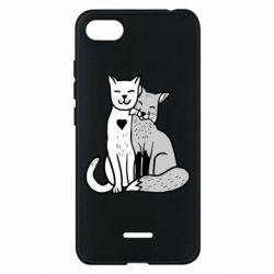 Чохол для Xiaomi Redmi 6A Fox and cat heart - FatLine