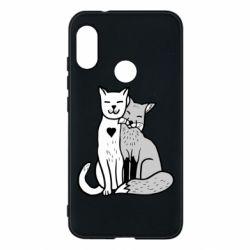 Чохол для Mi A2 Lite Fox and cat heart - FatLine